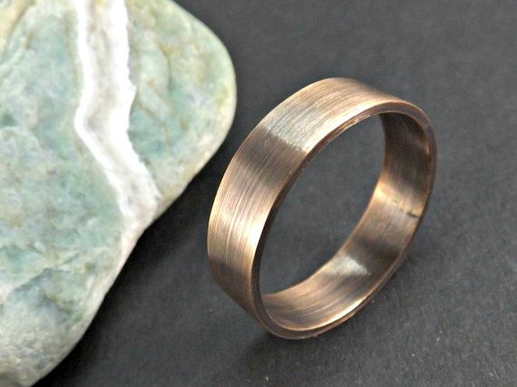 bronze ring elegant rustic ring 4 to 8mm wide ring band mens ring modern ring oxidized matte finish rustic wedding ring by CrazyAssJD on Etsy
