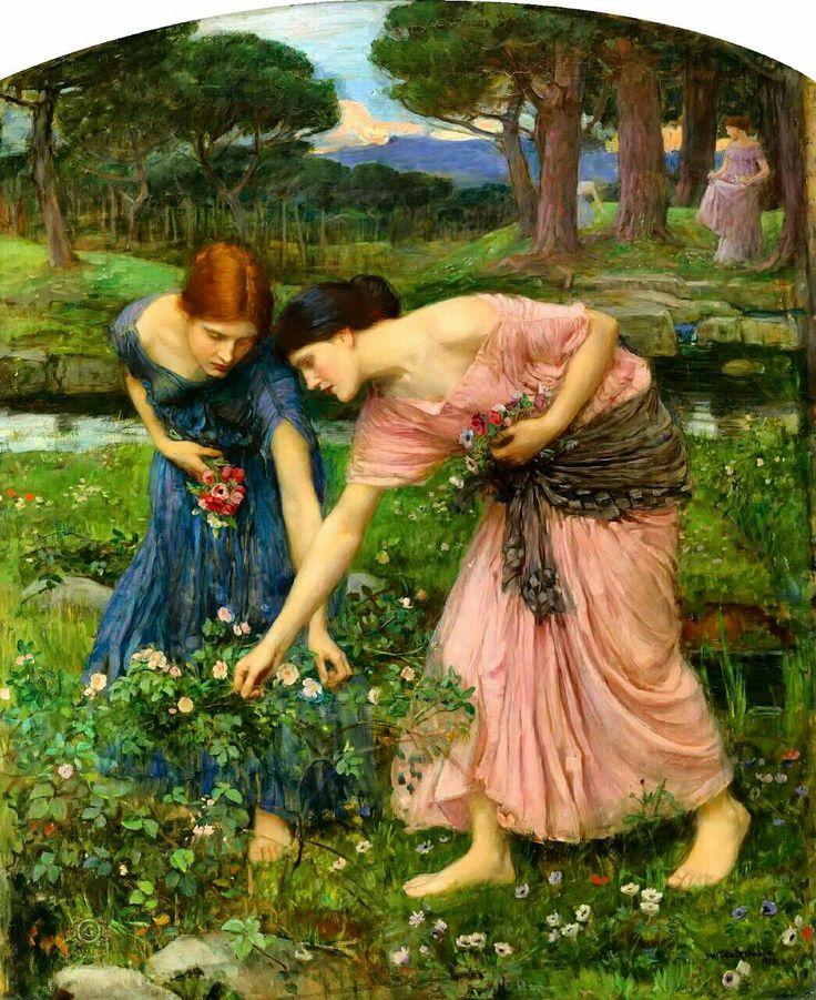 Срывайте розы поскорей 1909 Джон Уильям Уотерхаус  Срывайте розы поскорей, Подвластно всё старенью, Цветы, что ныне всех милей, Назавтра станут тенью.