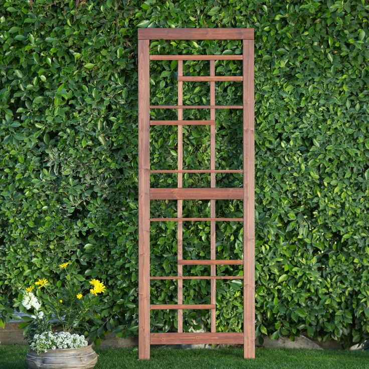 Coral Coast Halstead Wood Trellis - Give leggy flowers and climbing vines somewhere to go with the Coral Coast Halstead Wood Trellis . Craftsman-style construction and style paired with...