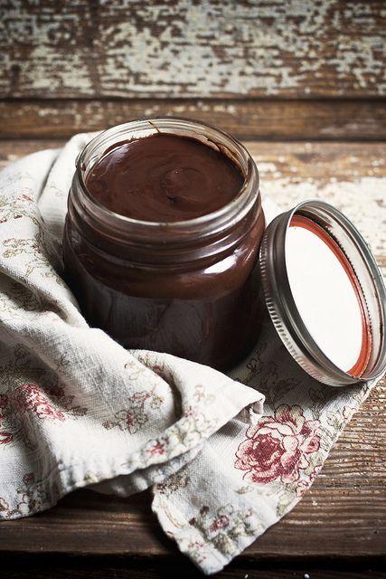 chocolate-coconut ganache for hot chocolate