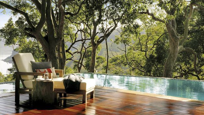 Infinity Pool in the Woods: Pretty Beaches, Modern Beaches House, Beaches Home, Swim Pools, Outdoor Chairs, Decks Design, Australia, Backyard Living, Beaches House Design