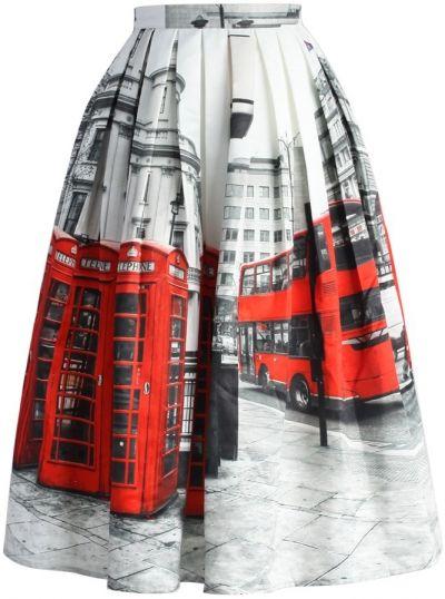 Chicwish midi sukně Oh, London