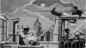 On the Roofs - Directed by Georges Méliès.