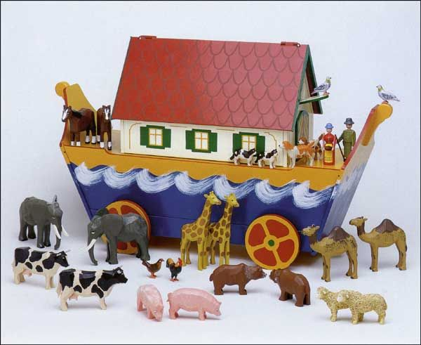 Christian Werner's Large Noah's Ark - exquisite - the Erzgebirge, Germany folk artist for Noah's Ark.  Available at www.mygrowingtraditions.com