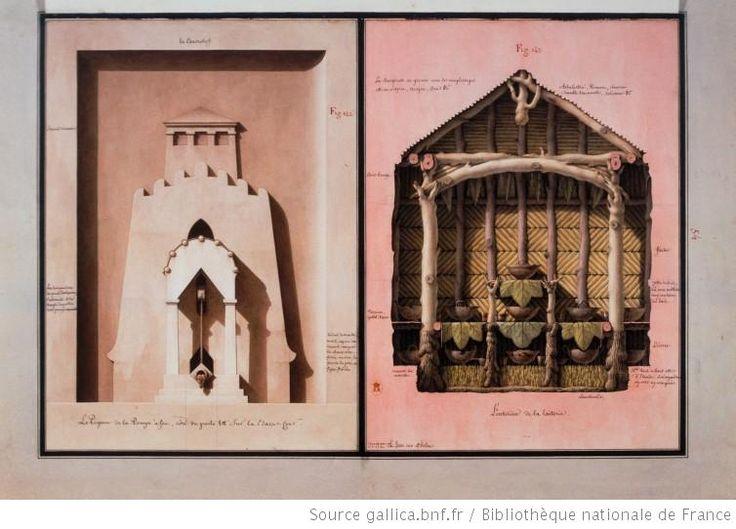 [La pompe à feu et la laiterie] : [dessin] / Jean-Jacques Lequeu inv. et delin. - 1777-1814