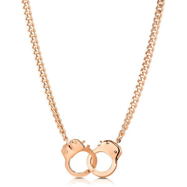 BERRICLE Gold Plated Handcuffs Fashion Chain Necklace ($27) ❤ liked on Polyvore featuring jewelry, necklaces, accessories, chain necklace, women's accessories, handcuff necklaces, berricle jewelry, handcuff jewelry, gold plated chain necklace and chain jewelry