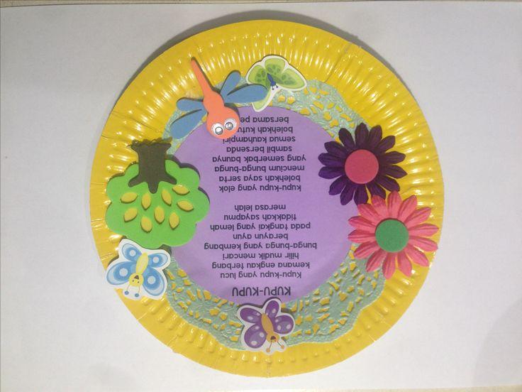 Paper Plate Nursery Rhyme Craft in Indonesian for children #indonesia #indonesian #bahasa # nurseryrhyme #nursery #rhyme #foam #artsandcrafts #arts&crafts #children #kids #arts #crafts #paper #plate #paperplate #children #kids #anak #anakanak #piring #kertas #seni