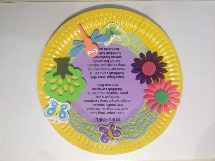 Paper Plate Nursery Rhyme Craft in Indonesian for children #indonesia #indonesian #bahasa # nurseryrhyme #nursery #rhyme #foam #artsandcrafts #arts&crafts #children #kids #arts #crafts #paper #plate #paperplate #children #kids #anak #anakanak #piring #kertas #seni