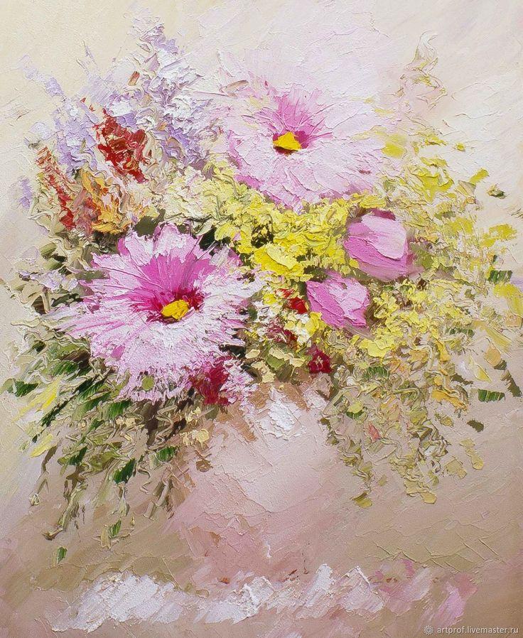 Картина маслом Розовая нежность, 61х50см – купить в интернет-магазине на Ярмарке Мастеров с доставкой