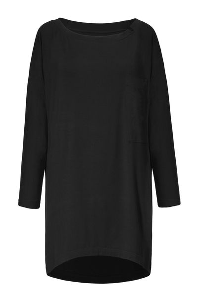 black oversized shirt dress #boyfrienddress #streetstyle SAMPLE SALE ON http://milieubazaar.com