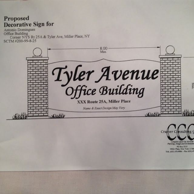 TYLER AVENUE & ROUTE 25A, MILLER PLACE, NEW YORK: Miller Place Civic Association, Inc.ON THE RECORD, REGARDING RT.25A & TYLER AVENUE, MILLER PLACE, NY PROJECT