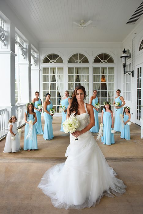Walt Disney World Bride And Her Bridal Party At S Grand Floridian Resort Spa