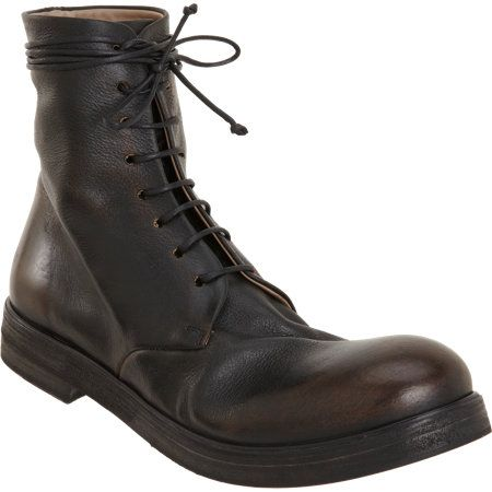 Marsèll Burnished Lace-Up Boot