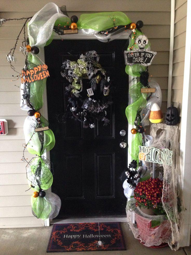 my halloween front door