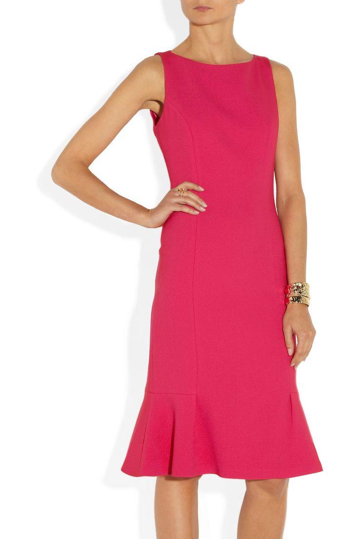 handbags cheap Woolblend crepe dress