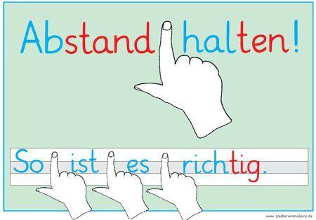 http://www.zaubereinmaleins.de/startseite/home..../: Zaubereinmaleins, Abstand halten, Deutsch, Plakat, Schreiben