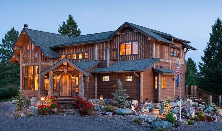 Halquist Stone Exterior Design Appealing Satterwhite Log Homes For