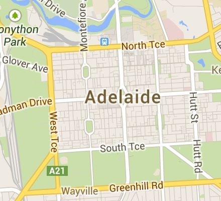 Map of north adelaide south australia