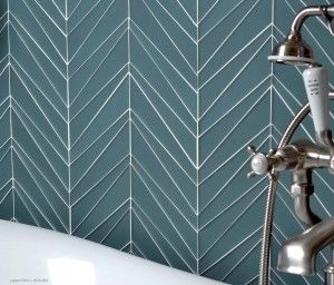 Palms tile pattern - chevron