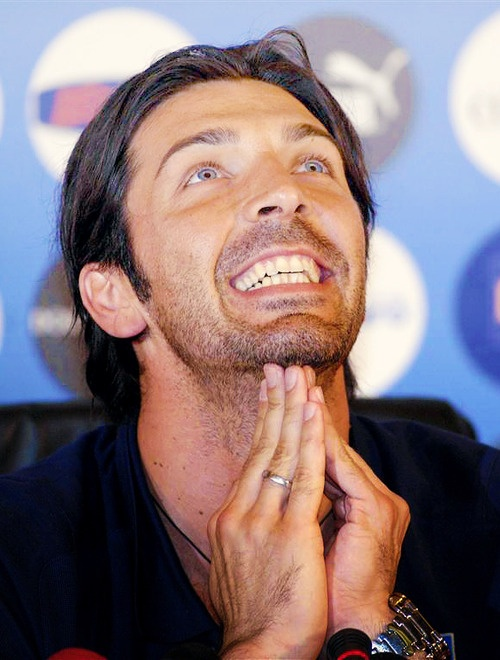 Gigi Buffon what a charisma!