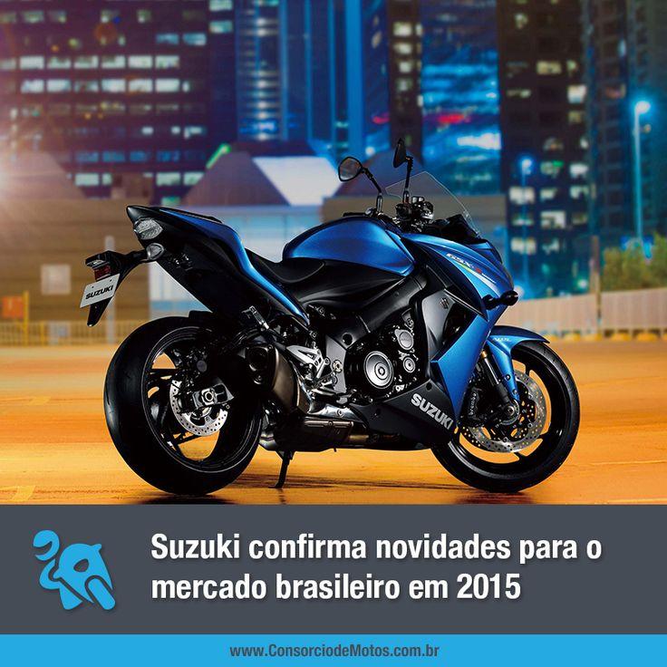 Os lançamentos mundiais da marca foram exibidos com exclusividade no Salão de Colônia na Alemanha, e, segundo a Suzuki, todos eles estarão à venda no Brasil futuramente. Veja na matéria: https://www.consorciodemotos.com.br/noticias/suzuki-confirma-novidades-para-o-mercado-brasileiro-em-2015?idcampanha=288&utm_source=Pinterest&utm_medium=Perfil&utm_campaign=redessociais