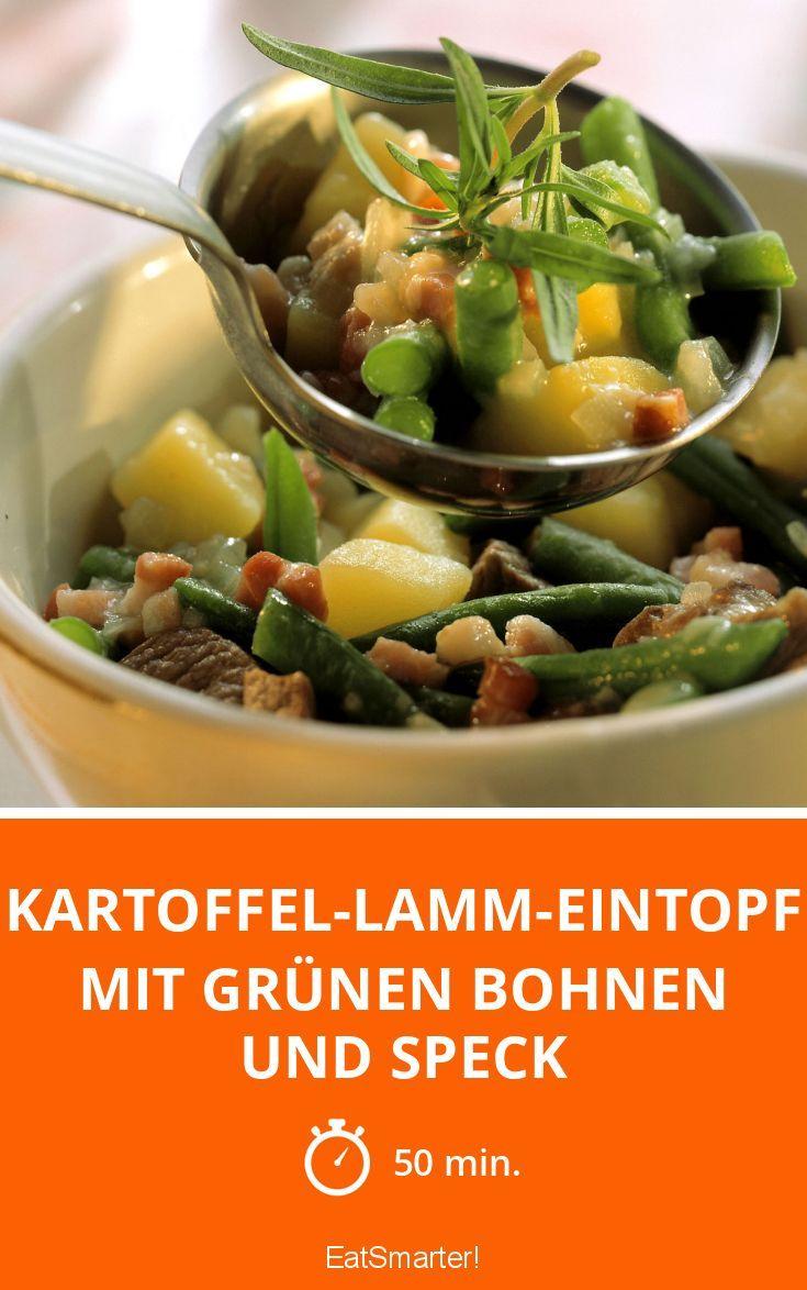 Kartoffel-Lamm-Eintopf mit grünen Bohnen und Speck - smarter - Zeit: 50 Min. | eatsmarter.de