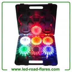 6 Packs Square Case Rechargeable Led Road Flares Kits Amber Orange White Black Red Yellow Blue Led Road Flares, 6 Pack Led Road Flares,6 Pack Rechargeable Led Road Flares