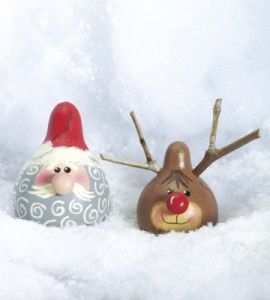 Christmas Painted Gourd Craft | Santa Crafts | Reindeer Crafts — Country Woman Magazine