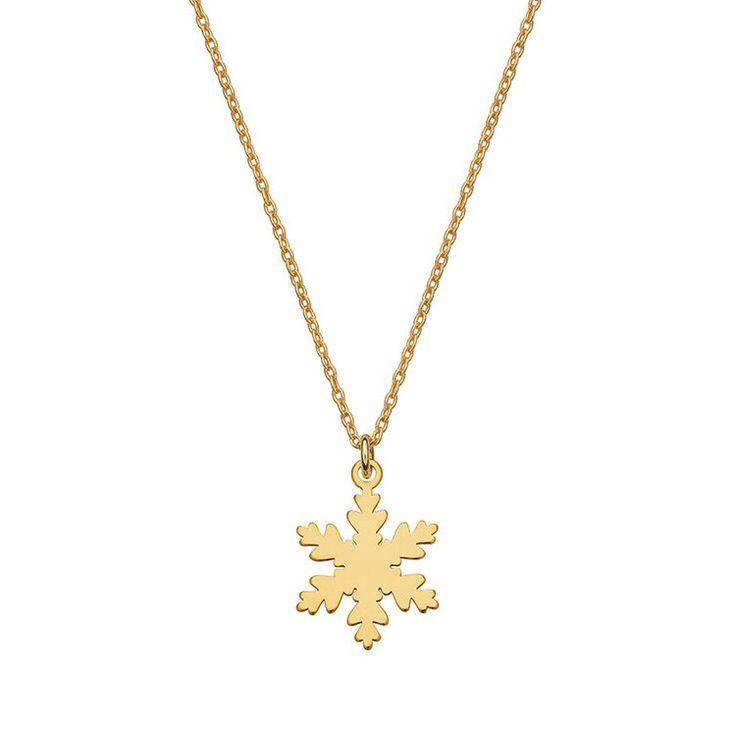 złoty naszyjnik płatek śniegu - może być domyślna długość