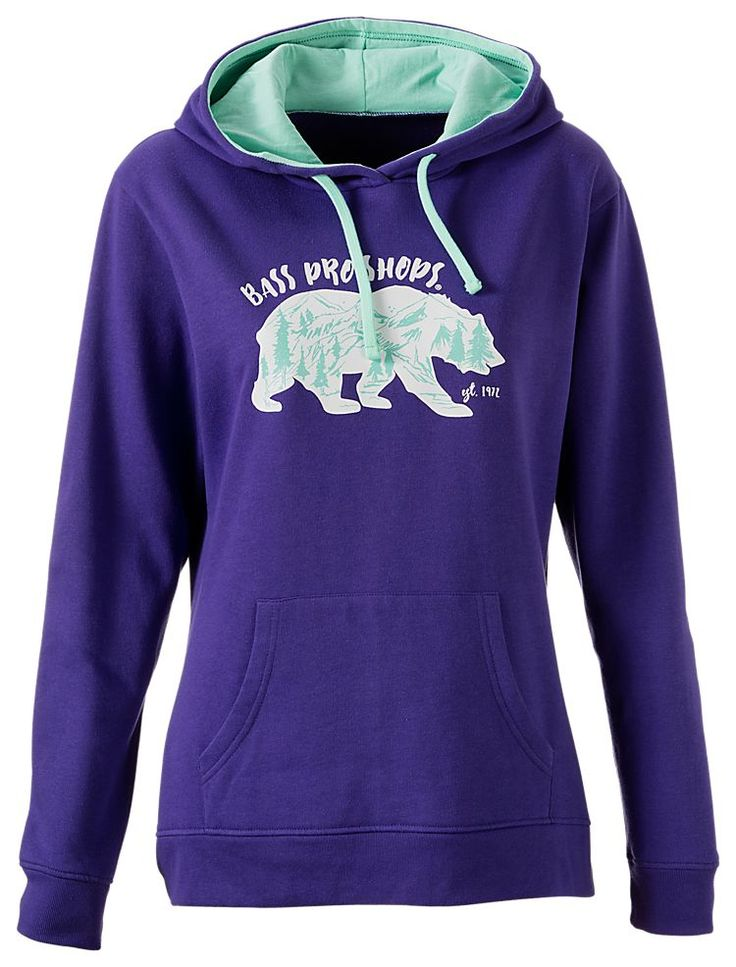 Bass pro shops icon bear hoodie for ladies bass pro for Bass fishing hoodies