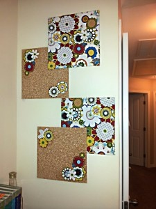 Bulletin board art deco DIY for around only $5