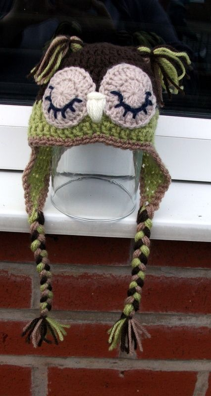 a baby owl hat for Raihan