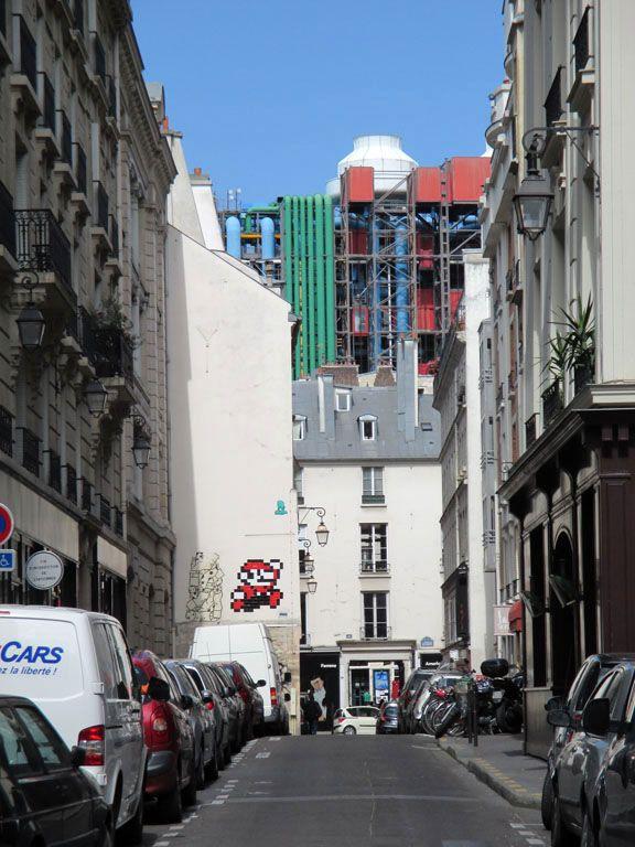 graffiti de Mario Bros, Pompideu, Paris