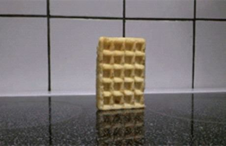 A Waffle Falling Over