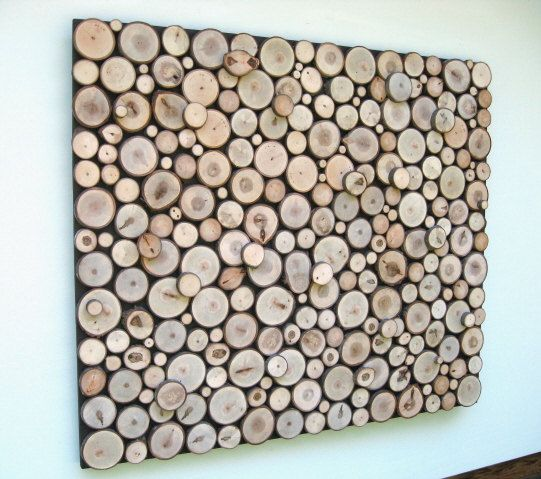 Resereved for Jim Abstract Art Wood Slice Rustic Wood Wall ...