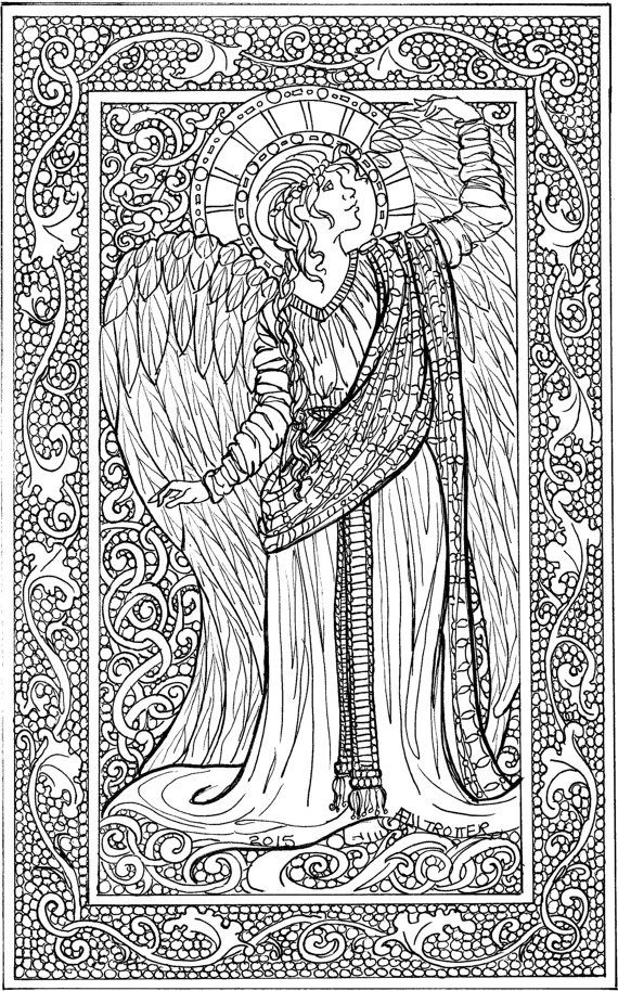 437 best Adult ColouringFairiesAngels images on Pinterest