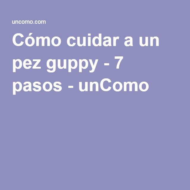 Cómo cuidar a un pez guppy - 7 pasos - unComo