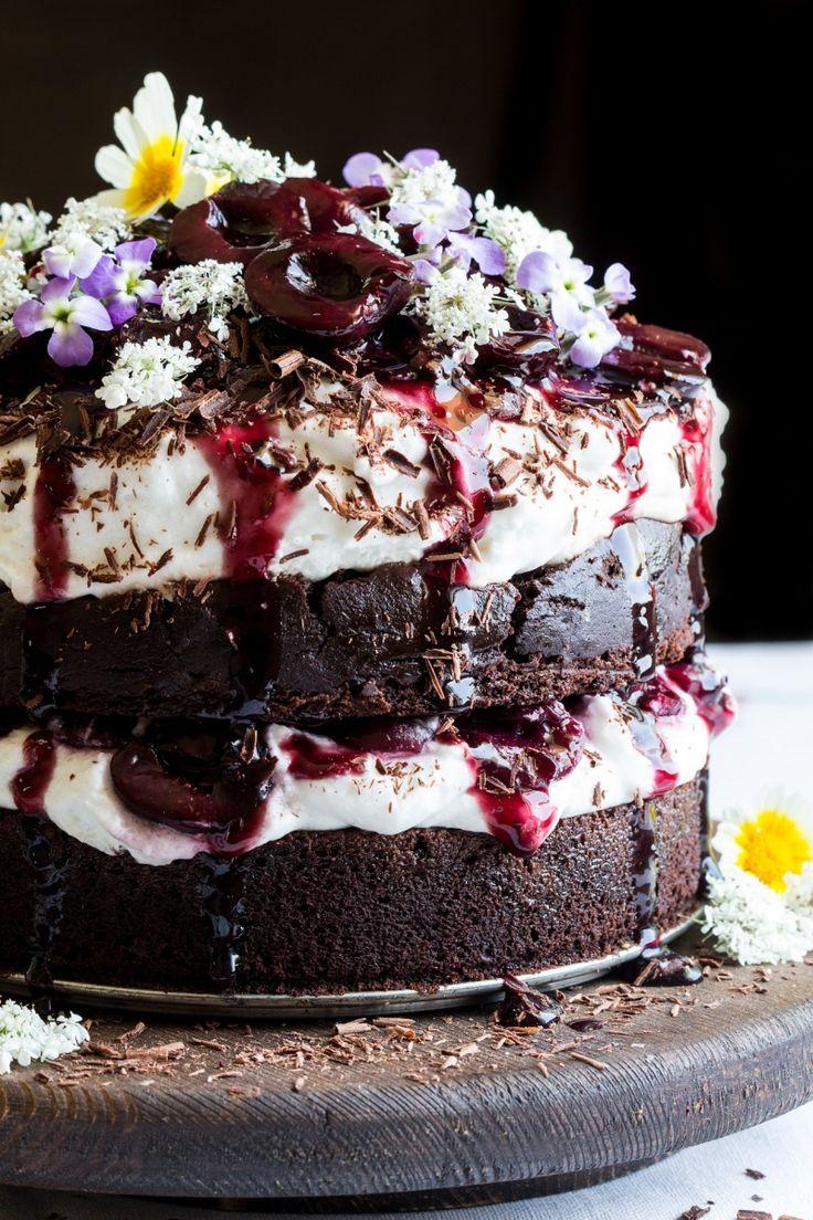 vegan black forest cake macro