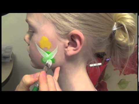 ▶ Fairy Face Paint Tutorial (Tink) - YouTube - this one is really good, already practising myself, so simple as such things are