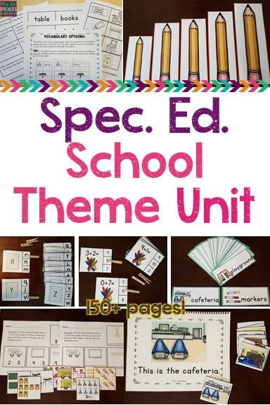 This back to school unit has everything you need to work on reading, math and language skills. My special education class does best when I immerse them in the language and vocabulary we are learning, so these materials are used across our school day. We u