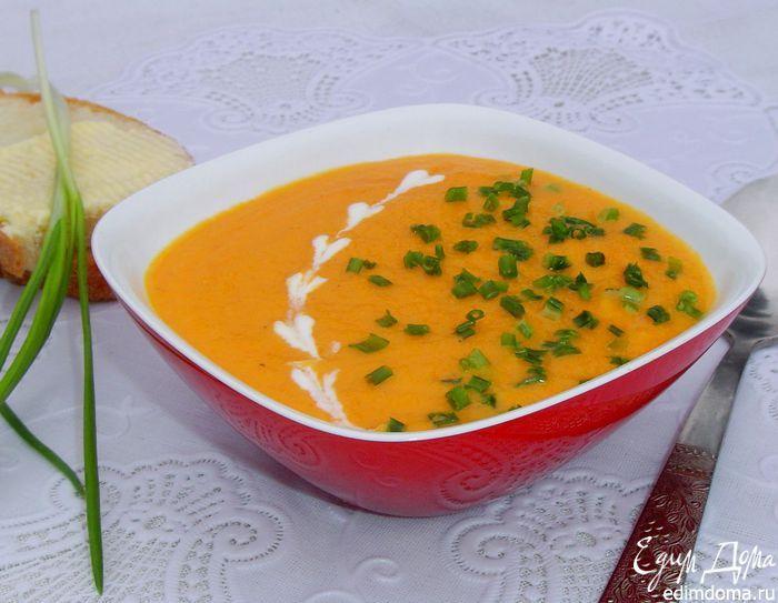 Морковный суп-пюре с зеленым луком (Сrema di carote all erba cipollina) | Кулинарные рецепты от «Едим дома!»