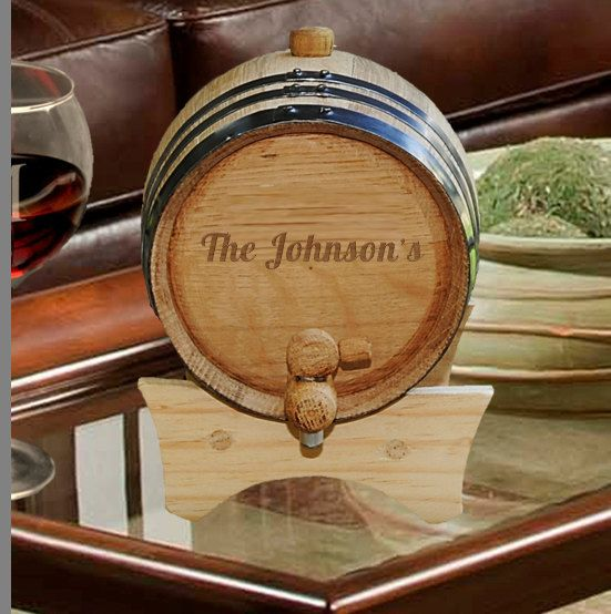 Personalized Whiskey Barrel by CreativeByClair on Etsy, $50.99