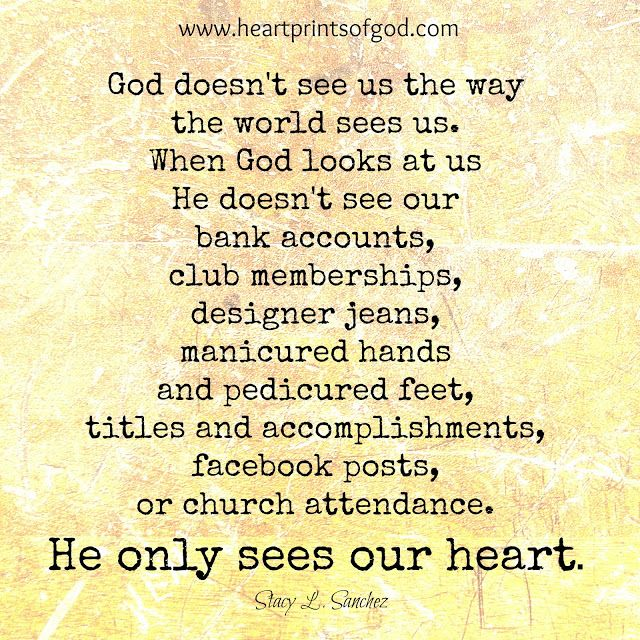 Heartprints of God: When We are Blind to What Matters Most~