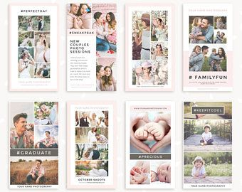 """Instagram story template: """"Classy Collages"""", Instagram stories templates, Social Media Template, Instagram Template for photographers"""