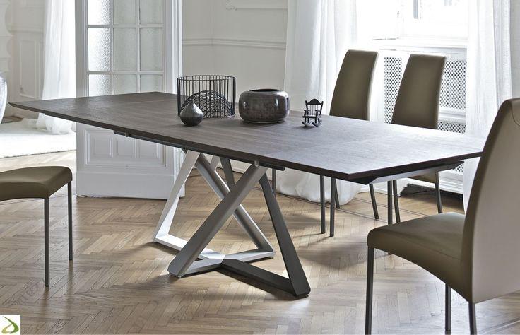 Tavolo design allungabile da soggiorno in legno