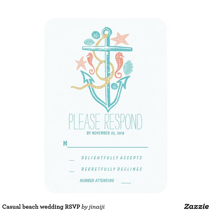 Casual beach wedding RSVP