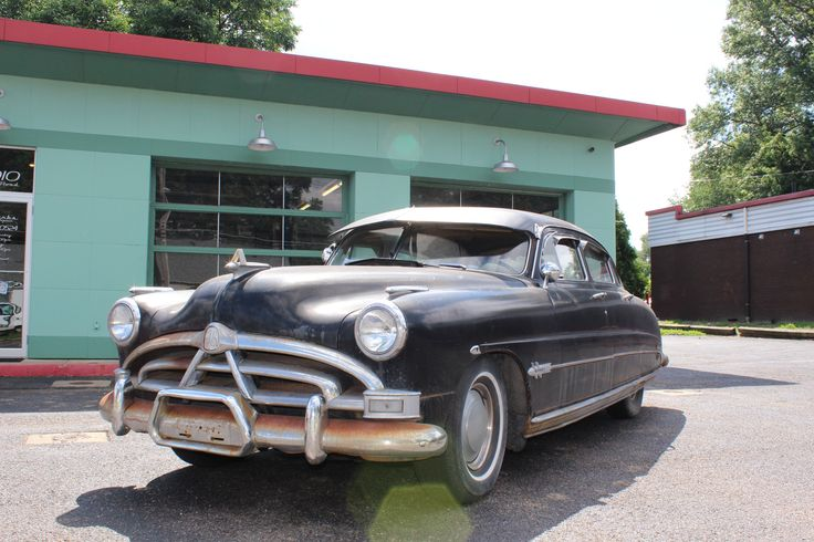 This 1951 Hudson Hornet is a running project that is equipped with a 308ci inline-six paired to a Hydramatic transmission. The seller recently got it running with a new battery, voltage regulator, and a rebuilt starter, and it was modified with a 262ci head. It is being offered with many spare parts