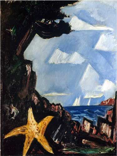Marsden Hartley,  Seaview Starfish New England Fine Art Reproduction Oil Painting