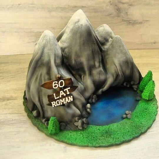 Mountains cake
