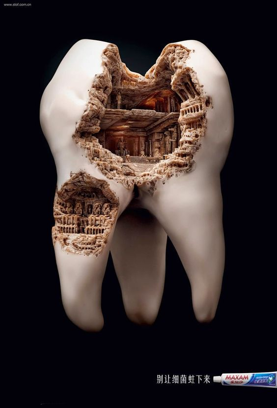 Funny #ads #posters #commercials connected with teeth. Follow us on www.facebook.com/ApReklama for more. Repinned by www.apreklama.pl https://www.instagram.com/arturjanas/ #ads #marketing #creative #poster #advertising #campaign #reklama #śmieszne #commercial #humor #teeth  #toothpaste